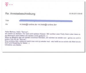 Servus Partyband - Feedback - Mail3
