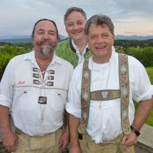 Servus Hochzeitsband Impressionen - Rudi, Markus und Django in Tracht