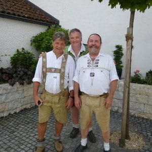 Servus Hochzeitsband Impressionen - Herrentrio Django, Markus und Rudi (von links nach rechts)