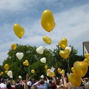 Servus Hochzeitsband Impressionen - Luftballons mit Glückwünschen