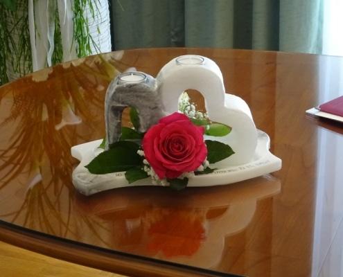 Hochzeitsimpressionen - Tischschmuck